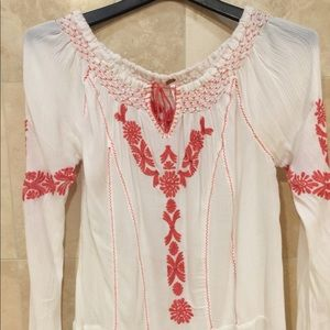 Free People Embroidered Tunic sz med